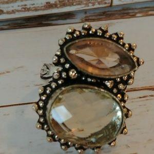 Lemon Quartz & Morganite Fashion Ring